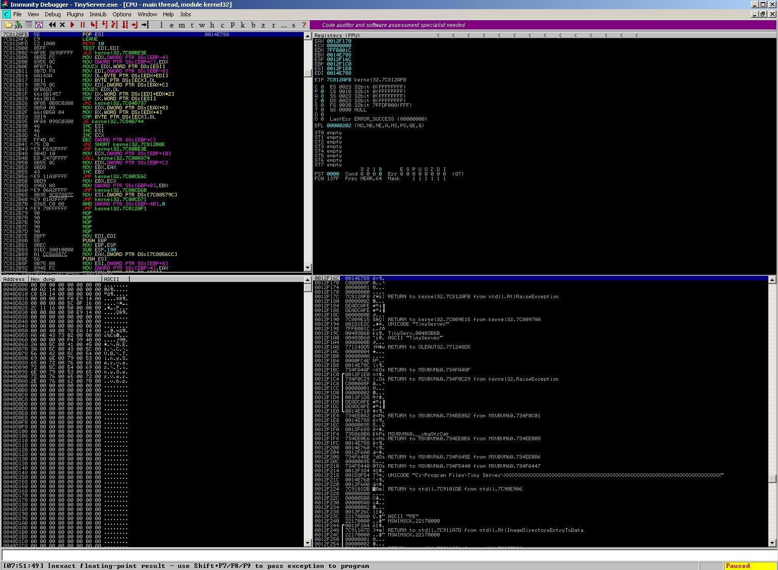Tiny HTTP Server 1 1 9 - Remote Crash (PoC) - Windows dos
