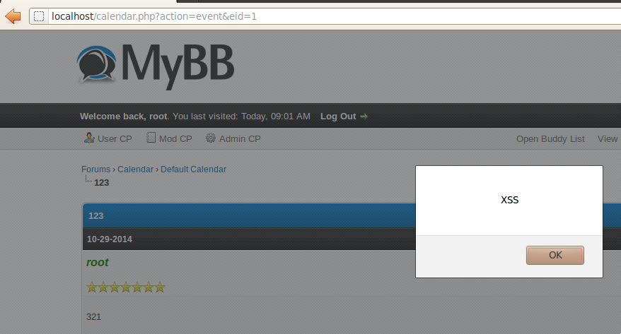 MyBB Forums 1 8 2 - Persistent Cross-Site Scripting