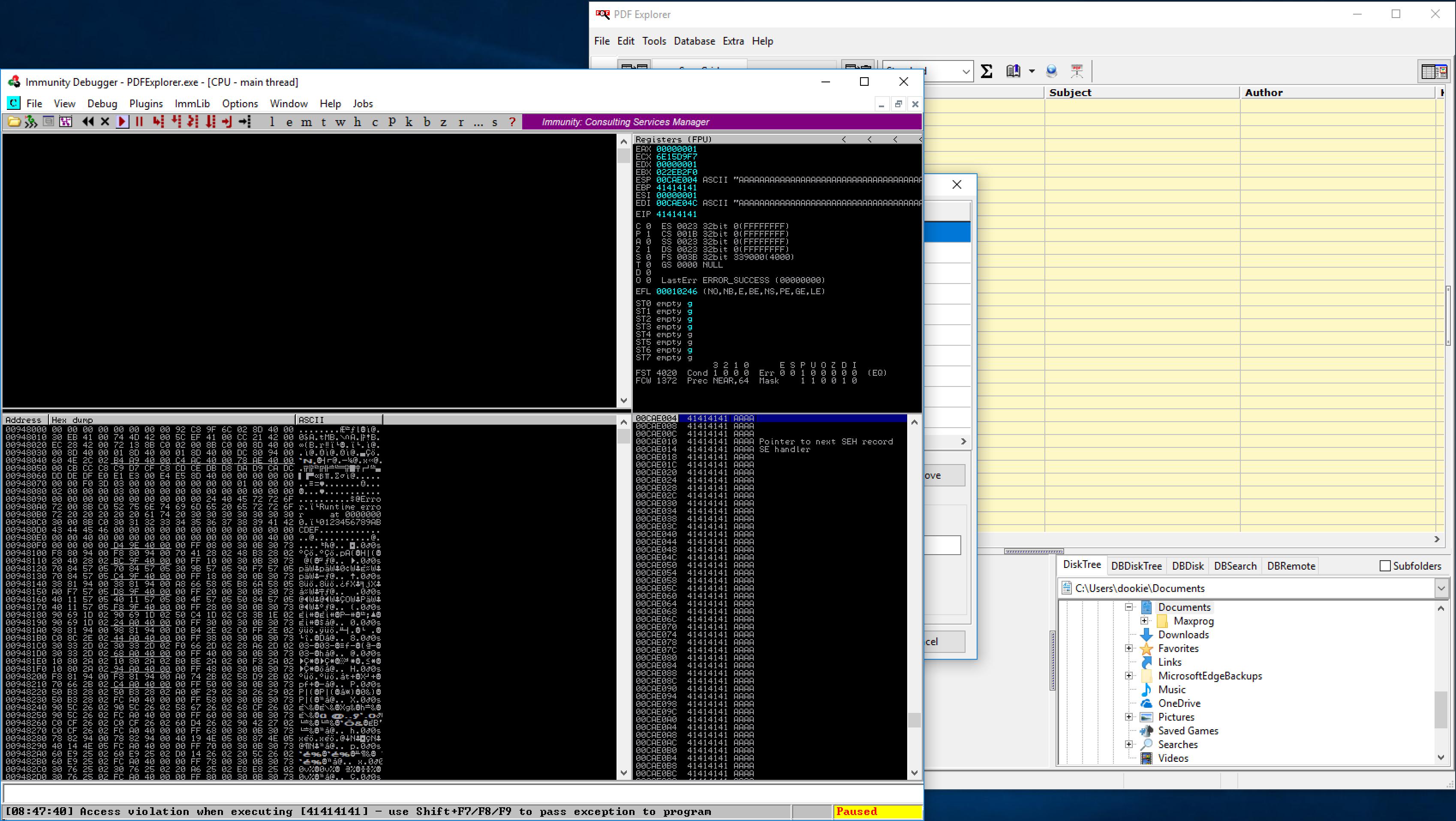 PDF Explorer 1 5 66 2 - Denial of Service (PoC) - Windows